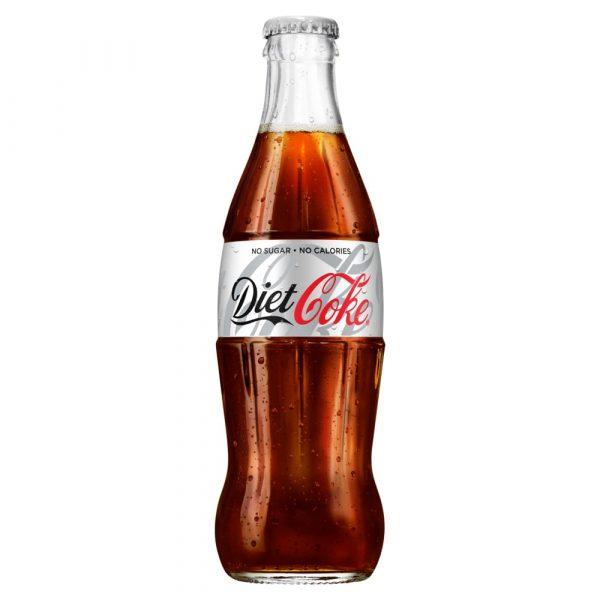 Diet Coke glass bottle